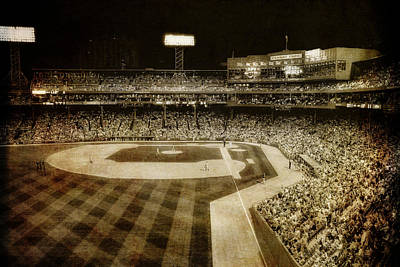 Boston Red Sox Photograph - Vintage Fenway Park - Boston by Joann Vitali