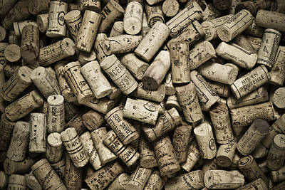 Food Photograph - Vintage Wine Corks by Frank Tschakert