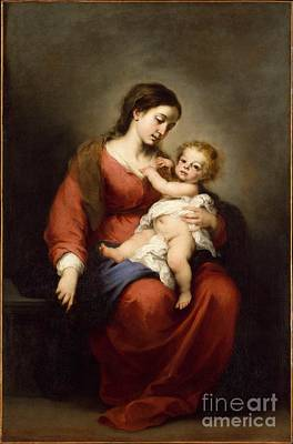 Seville Painting - Virgin And Child by Celestial Images