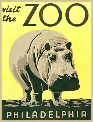 Visit The Zoo Print by Unknown