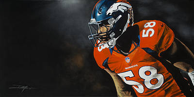 Von Miller Print by Don Medina