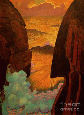 Painting - Vorhor. The Green Wave by Georges Lacombe