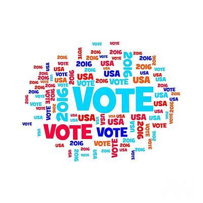 Vote Usa 2016 Print by Henrik Lehnerer