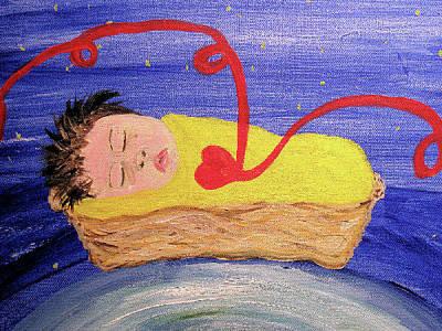 Fine Thread Painting - Waiting by Barbara Giordano
