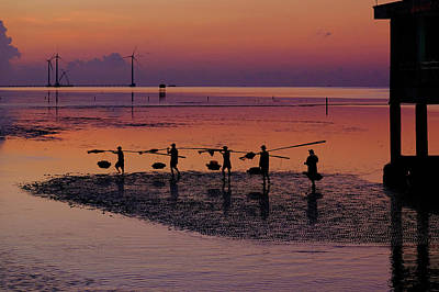 Walking On The Sea Print by Okan YILMAZ