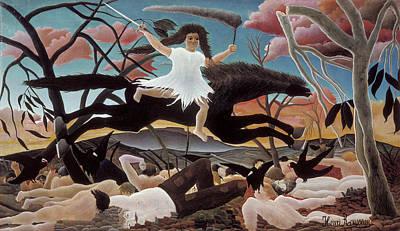 Pseudo Painting - War by Henri Rousseau