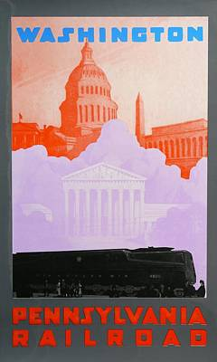 Capitol Building Drawing - Washington Dc by David Studwell