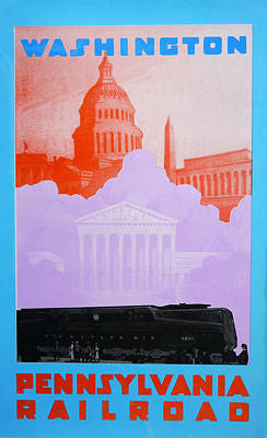 Capitol Building Drawing - Washington Dc Vi by David Studwell