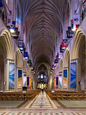 Washington National Cathedral - Washington Dc Print by Brendan Reals