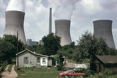 Water Cooling Towers Of The John Amos Print by Everett