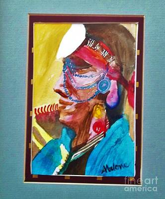 Water Healing Ceremonial Chief Yaz Print by Abelone Petersen