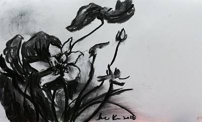 Waterlily Drawing - Waterlily  by Hae Kim