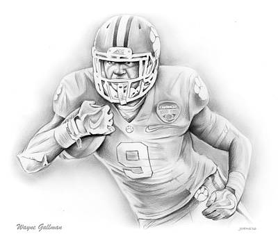Wayne Gallman Original by Greg Joens