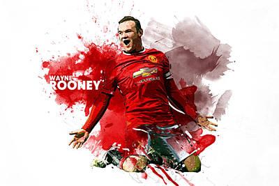 Wayne Rooney Digital Art - Wayne Rooney by Semih Yurdabak