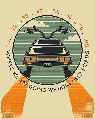 We Dont Need Roads Print by Jazzberry Blue