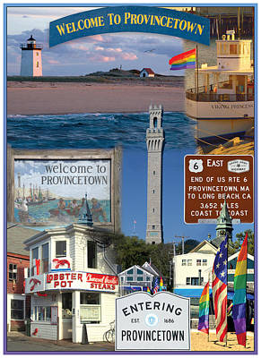Welcome To Provincetown Print by Adlai Neubauer