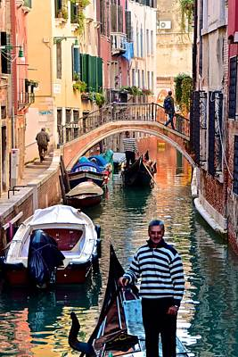 Welcome To Venice Print by Frozen in Time Fine Art Photography