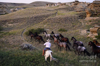 Western Living 1 Print by Bob Christopher