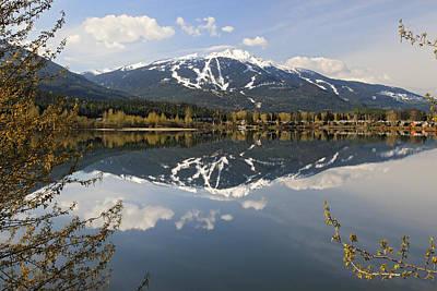 Mountain Photograph - Whistler Blackcomb Green Lake Reflection by Pierre Leclerc Photography