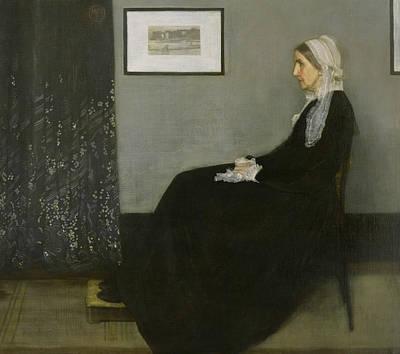 Tonalist Painting - Whistler's Mother by James Abbott McNeill Whistler