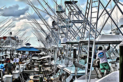 Water Filter Photograph - White Marlin Open by Carey Chen