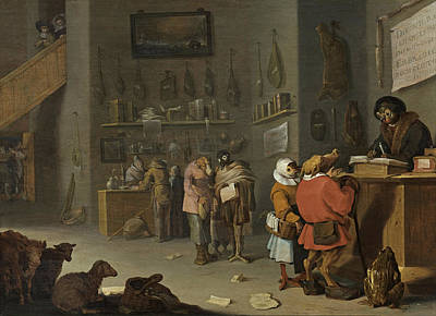 Cornelis Saftleven Painting - Who Sues For A Cow by Cornelis Saftleven