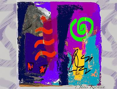 Abstract Movement Mixed Media - Wild And Wicked 9 by Janis Kirstein