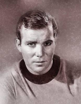 Captain Kirk Painting - William Shatner By John Springfield by John Springfield