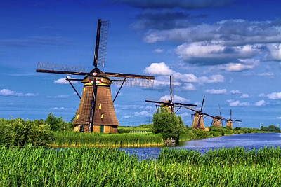 Photograph - Windmills In Kinderdijk, Holland, Netherlands by Elena Duvernay