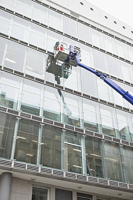 Window Cleaning Print by Tom Gowanlock