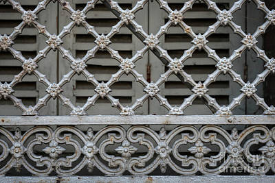 Grid Photograph - Window Grill In Toulouse by Elena Elisseeva