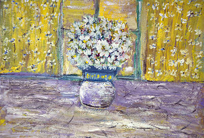 Table Cloth Painting - Windowpane by Don  Wright