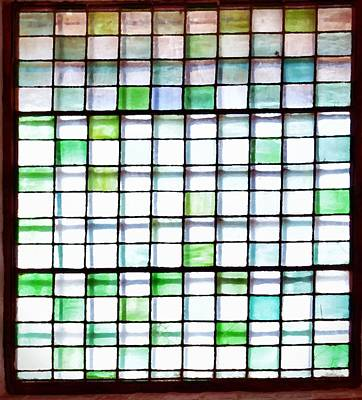 White Photograph - Stained Glass Window  by Sandy Taylor
