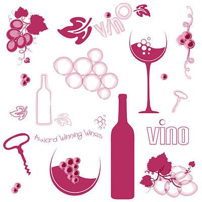 Wine Background Pattern Print by Serena King