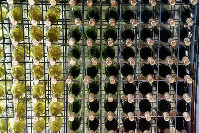 Wine Cellar Mixed Media - Wine Rack With Bottles Pa 03 by Thomas Woolworth