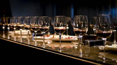 Wine Tasting Print by Jon Berghoff