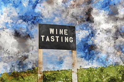 Wine Tasting Sign Print by Brandon Bourdages