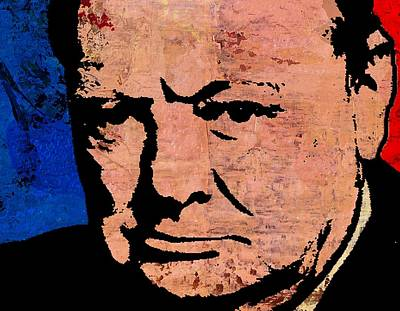 Statesmen Mixed Media - Winston Churchill by Otis Porritt