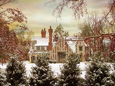 Snow Digital Art - Winter Estate by Jessica Jenney