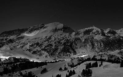 Winter Evening On The Slopes Print by Mountain Dreams
