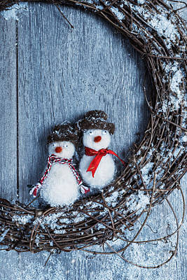 Winter Garland Print by Amanda Elwell