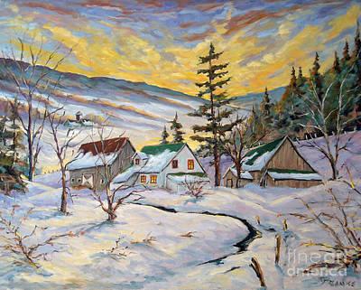 Painting - Winter Lights by Richard T Pranke