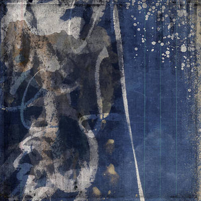 Winter Nights Series Six Of Six Print by Carol Leigh