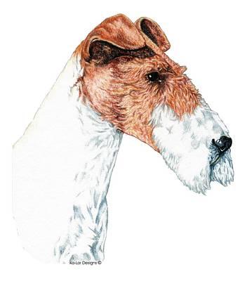 Wire Fox Terrier Print by Kathleen Sepulveda