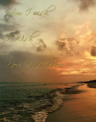 Wish You Were Here Print by Theresa Campbell