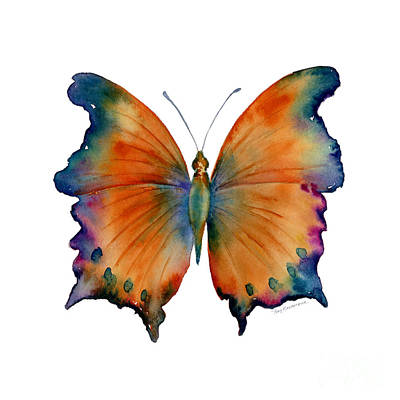 Orange Painting - 1 Wizard Butterfly by Amy Kirkpatrick