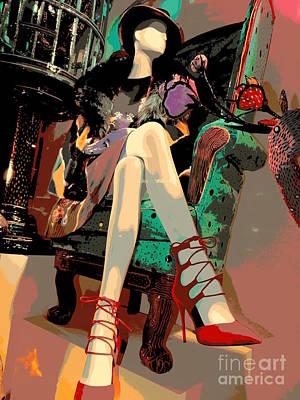Woman In Chair Print by Ed Weidman