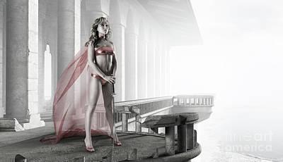 Woman Warrior Print by Oleksiy Maksymenko