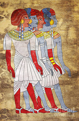 Egyptian Mixed Media - Women Of Ancient Egypt by Michal Boubin