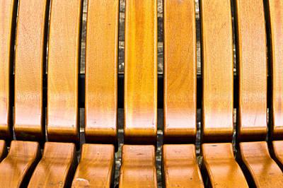 Wooden Bench Print by Tom Gowanlock